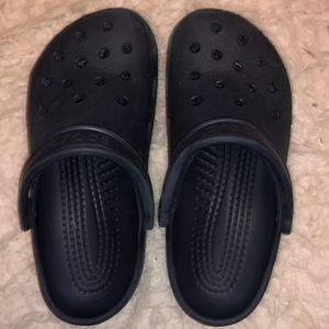 Crocs navy blue size 6-8